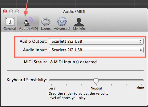 How to set up your Scarlett 2i2 in GarageBand – Focusrite Audio