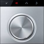 Forte audio interface touch-sensitive button