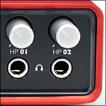 Audio interface with two mic inputs